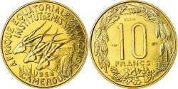 World Coins - Coin, Cameroon, 10 Francs, 1958, Paris, ESSAI, , Aluminum-Bronze, KM:E8
