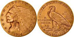 Us Coins - Coin, United States, Indian Head, $2.50, Quarter Eagle, 1914, U.S. Mint