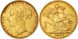 World Coins - Coin, Australia, Victoria, Sovereign, 1880, Melbourne, , Gold, KM:7