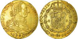 World Coins - Coin, Colombia, Charles IV, 4 Escudos, 1790, Nuevo Reino, Very rare,
