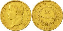 Ancient Coins - Coin, France, Napoléon I, 20 Francs, 1808, Paris, EF(40-45), Gold, KM:687.1
