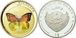 World Coins - Coin, Palau, Papillon, Dollar, 2008, , Silver