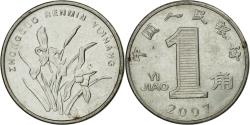 World Coins - Coin, CHINA, PEOPLE'S REPUBLIC, Jiao, 2007, , Stainless Steel, KM:1210b