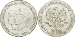 World Coins - Coin, Poland, 30th Anniversary - Victory Over Fascism, 200 Zlotych, 1975