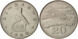 World Coins - Zimbabwe, 20 Cents, 1980, , Copper-nickel, KM:4
