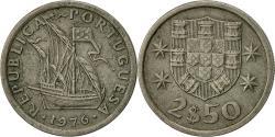 World Coins - Portugal, 2-1/2 Escudos, 1976, , Copper-nickel, KM:590
