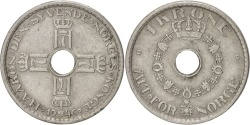 World Coins - NORWAY, Krone, 1946, KM #385, , Copper-Nickel, 25