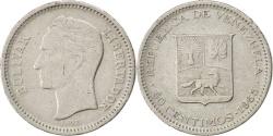 World Coins - VENEZUELA, 50 Centimos, 1965, KM #41, , Nickel, 20, 3.50