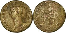 Ancient Coins - Coin, Claudius, Dupondius, 42-43, Rome, Countermark, , Bronze, RIC:110