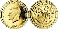 World Coins - Coin, Liberia, 25 Dollars, 2003, , Gold