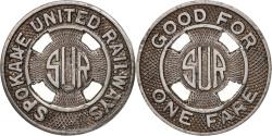 Us Coins - United States, Token, Spokane United Railways