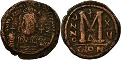 Ancient Coins - Coin, Justinian I, Follis, 541-542, Constantinople, , Bronze, Sear:163