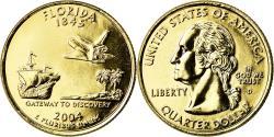 Us Coins - Coin, United States, Florida, Quarter, 2004, U.S. Mint, Denver, golden
