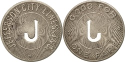 Us Coins - United States, Token, Jefferson City Lines Incorporated