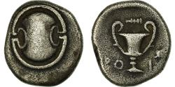 Ancient Coins - Coin, Boeotia, Thebes, 1/4 Stater, Thebes, EF(40-45), Silver