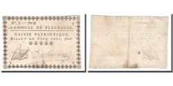 World Coins - France, 5 Sols, Undated (1791-92), FLEURANCE, EF(40-45)
