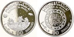 World Coins - Coin, Morocco, Hassan II, Apollo 11, 100 Dirhams, 1970, Proof,