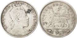 World Coins - ETHIOPIA, Gersh, 1902, KM #12, , Silver, 16.5, 1.37