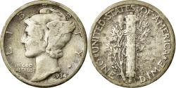 Us Coins - Coin, United States, Mercury Dime, Dime, 1934, U.S. Mint, Philadelphia