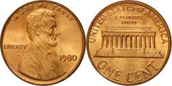 Us Coins - Coin, United States, Lincoln Cent, Cent, 1980, U.S. Mint, Philadelphia