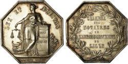 World Coins - France, Token, Notaires de l'Arrondissement de Lille, Lecomte,