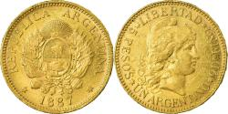 World Coins - Coin, Argentina, 5 Pesos, Argentino, 1887, , Gold, KM:31