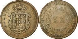 World Coins - Coin, Portugal, Maria II, 20 Reis, 1847, , Copper, KM:482