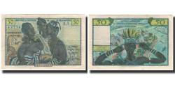 World Coins - Banknote, French West Africa, 50 Francs, 1956, KM:45, AU(50-53)