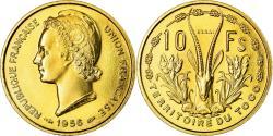 World Coins - Coin, Togo, 10 Francs, 1956, Paris, ESSAI, , Aluminum-Bronze, KM:E7