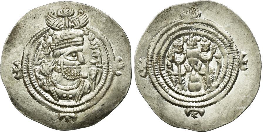 Ancient Coins - Coin, Sasanian Kings, Khusrau II, Drachm, NY (Nihavand), , Silver