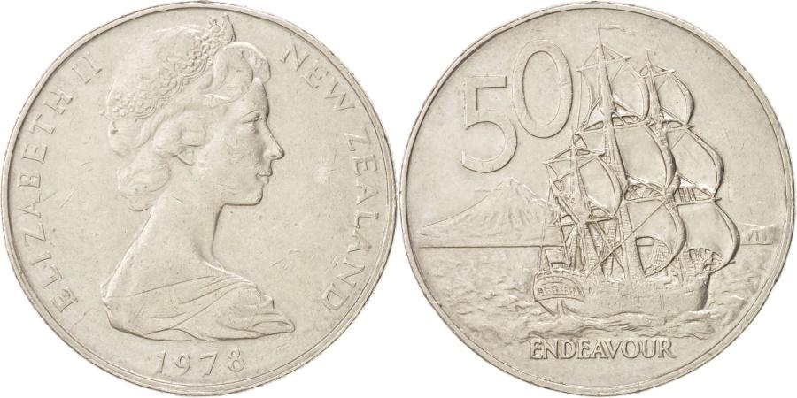 World Coins - New Zealand, Elizabeth II, 50 Cents, 1978, , Copper-nickel, KM:37.1