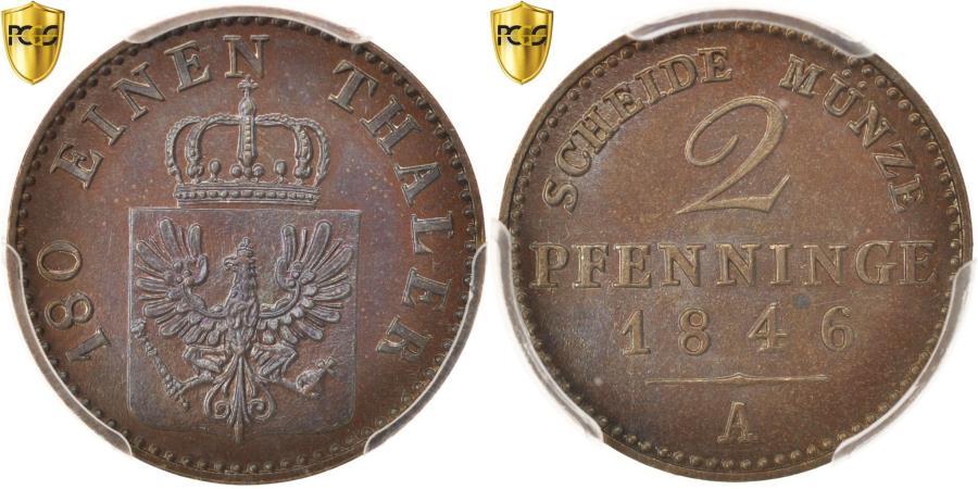 World Coins - Coin, German States, PRUSSIA, Friedrich Wilhelm IV, 2 Pfennig, 1846, Berlin