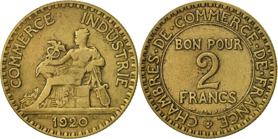 France chambre de commerce 2 francs 1920 paris vf 20 for Chambre commerce france