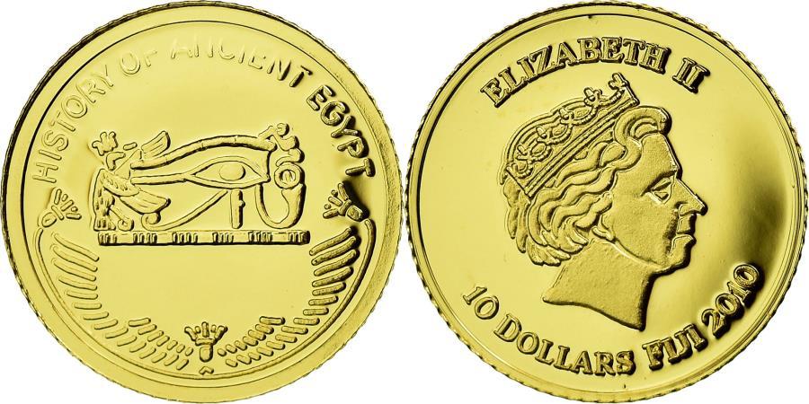 World Coins - Coin, Fiji, 10 Dollars, 2010, Oudjat, , Gold