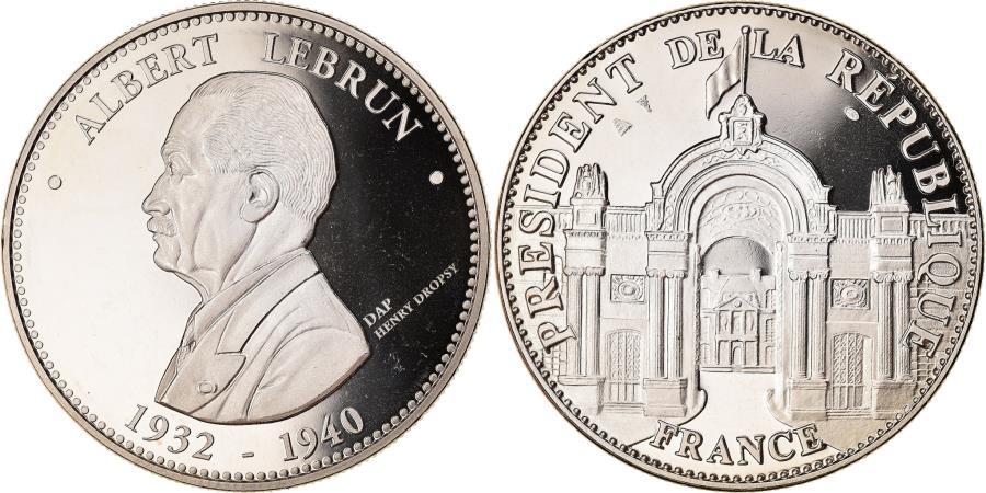 World Coins - France, Medal, Les Présidents de la République, Albert Lebrun, Politics