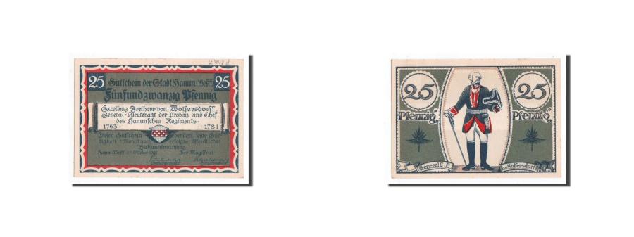 World Coins - Germany, Hamm, 25 Pfennig, Bottle Green, 1921, 1921-10-01, UNC(65-70), Mehl:5...