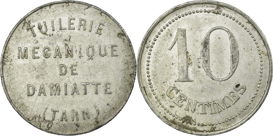 World Coins - Coin, France, Tuilerie Mécanique, Damiatte, 10 Centimes, , Aluminium