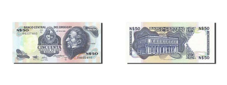 World Coins - Uruguay, 50 Nuevos Pesos, 1989, KM:61a, Undated, UNC(63)