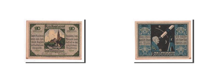 World Coins - Germany, Rathenow, 90 Pfennig, personnage, Undated, UNC(65-70), Mehl:1099.1