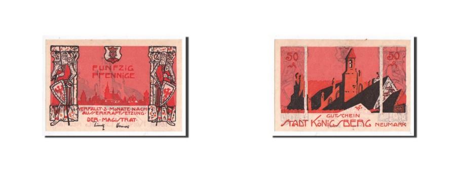 World Coins - Germany, Königsberg N. M, 50 Pfennig, Eglise, Undated, UNC(65-70), Mehl:722.1b
