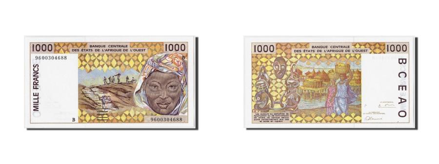World Coins - West African States, Benin,  1000 Francs, 1996, KM:211Bg, Undated, UNC(65-70)