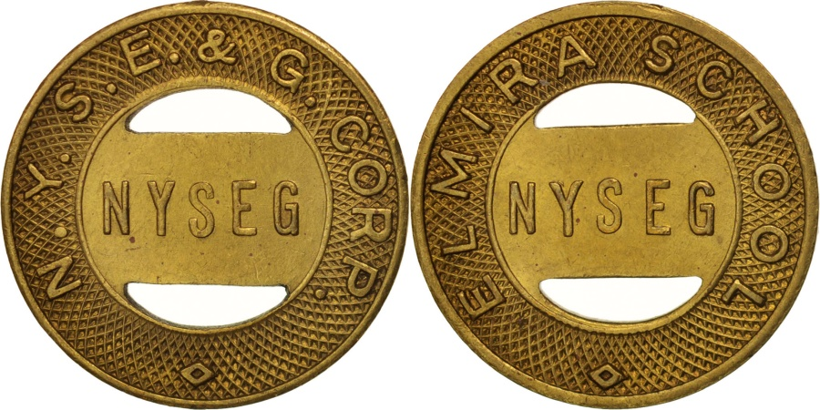 US Coins - United States, Token, New-york, N.Y.S.E. & G. Corp., Elmira School