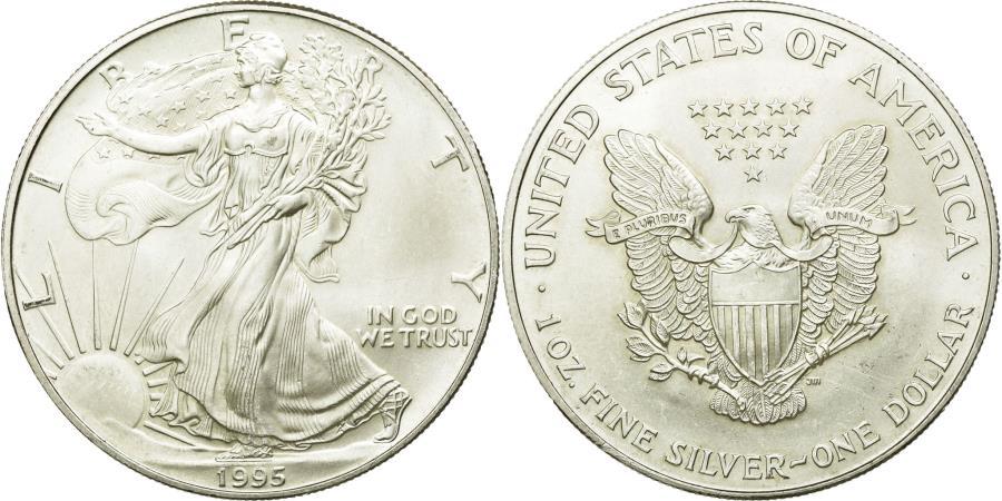 World Coins - Coin, United States, Dollar, 1995, U.S. Mint, Philadelphia, AU(55-58), Silver