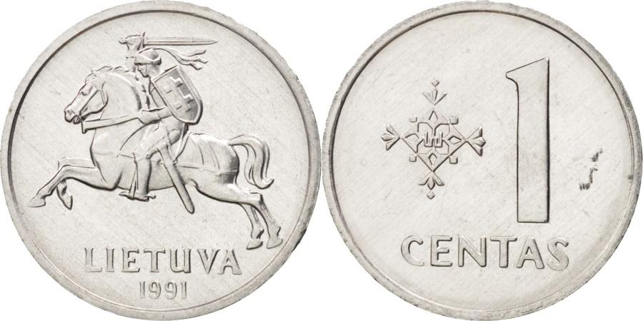 World Coins - Lithuania, Centas, 1991, , Aluminum, KM:85
