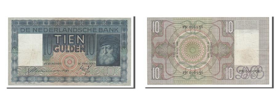 World Coins - Netherlands, 10 Gulden, 1935, KM #49, 1935-04-30, EF(40-45), FN096956