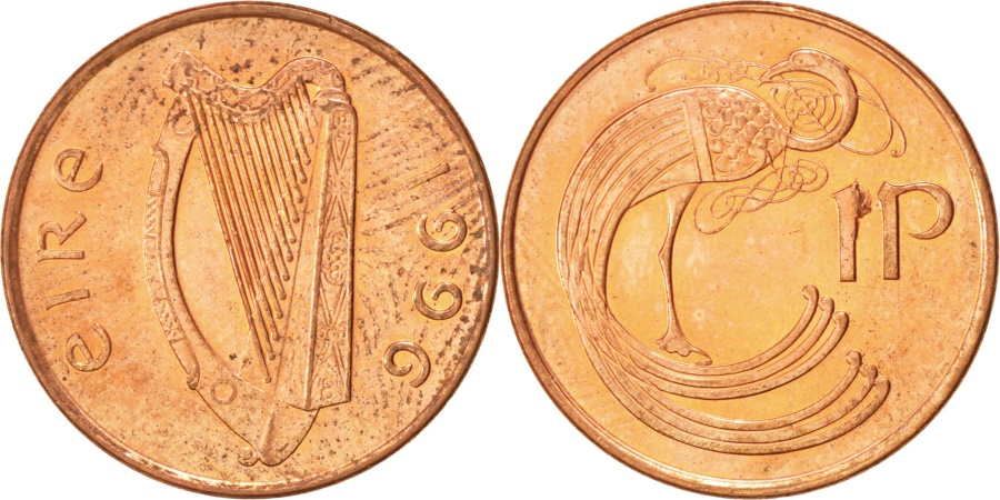 World Coins - IRELAND REPUBLIC, Penny, 1996, , Copper Plated Steel, KM:20a