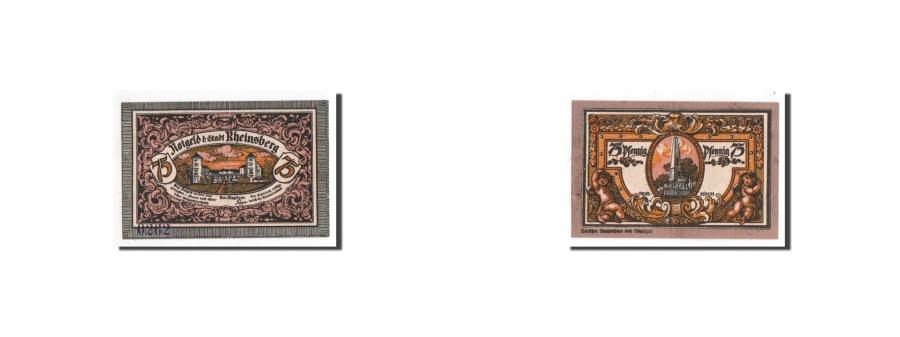 World Coins - Germany, Rheinsberg, 75 Pfennig, Monument, Undated, UNC(65-70), Mehl:1120.1