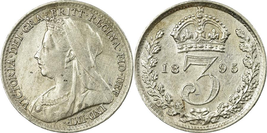 World Coins - Coin, Great Britain, Victoria, 3 Pence, 1895, , Silver, KM:777