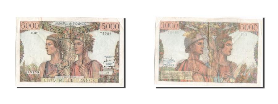 World Coins - France, 5000 Francs, 5 000 F 1949-1957 ''Terre et Mer'', 1949, KM #131a,...