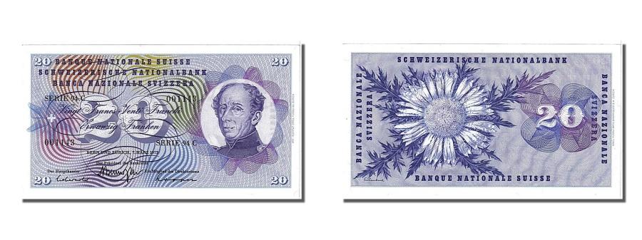 World Coins - Switzerland, 20 Franken, 1973, KM #46u, 1973-03-07, UNC(65-70), 94C